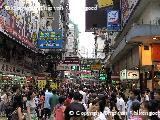 Een straat in China, vol met ....